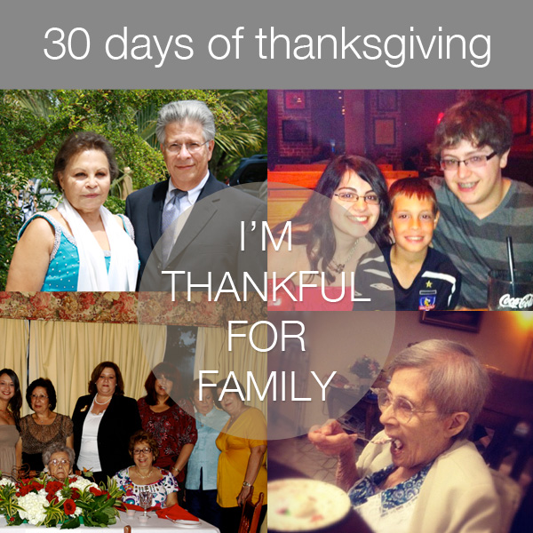 30daysthanks17 30 Days of Thanksgiving   Day 17: Family