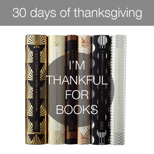 30daysthanks3 30 Days of Thanksgiving   Day 3: Books