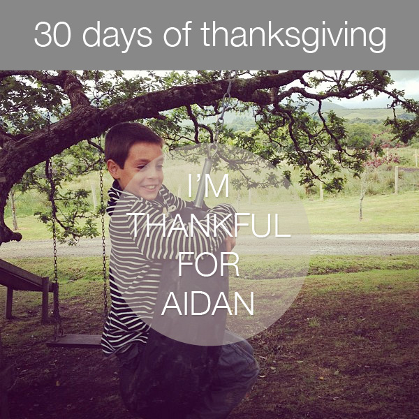 30daysthanks6 30 Days of Thanksgiving   Day 6: Aidan