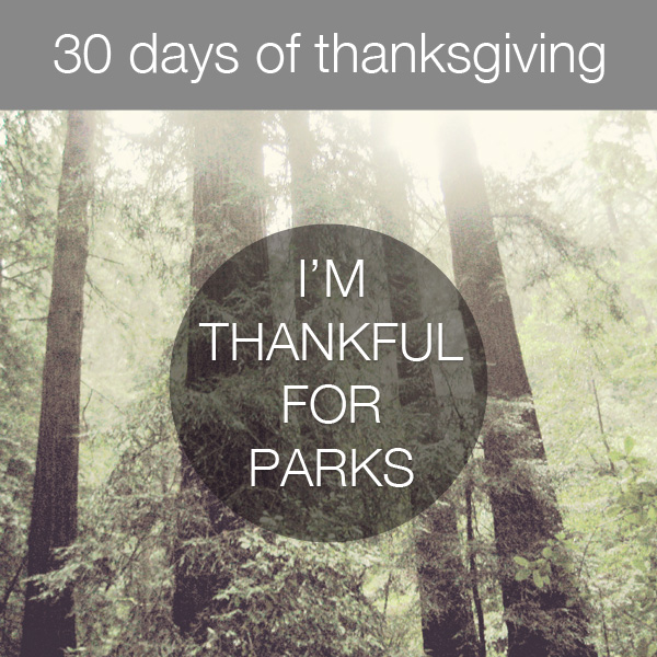 30 Days of Thanksgiving: Parks by Bits of Beauty